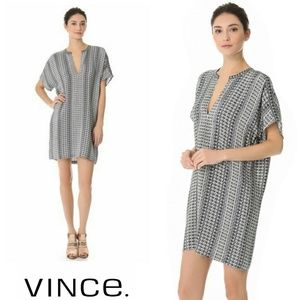 Vince Aztec Print Tunic Dress Sz L
